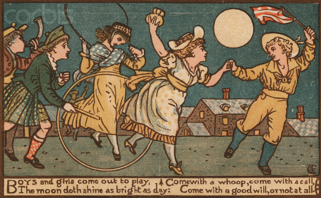 Boys and Girls Come Out to Play Illustration by Walter Crane