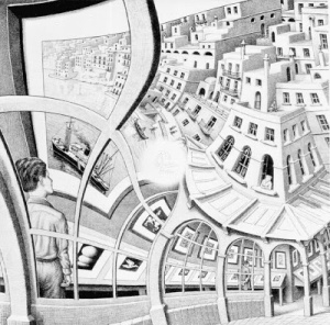 Print Gallery 1956 Lithograph